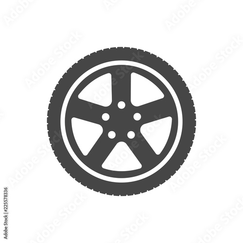 tire icon wheel icon vector stock image and royalty free vector