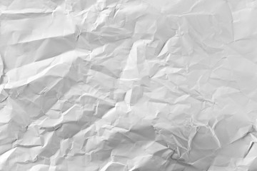 Crumpled white paper background and texture