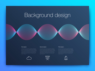 Futuristic user interface. UI Technology background vector