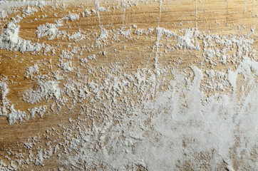 Flour Scattered on Old Wooden Chopping Board Wall mural