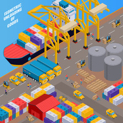Delivery Isometric Illustration