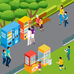 Vending Machines Isometric Illustration