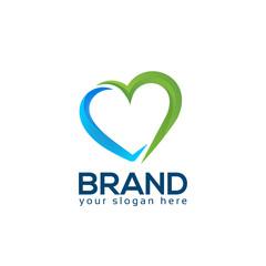 Heart logo vector on white background