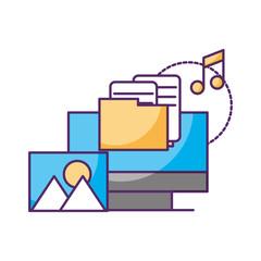 computer folder music picture data storage