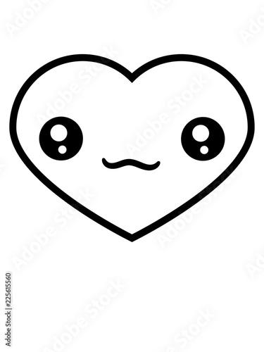 Herzchen Herz Gesicht Suss Niedlich Kopf Form Liebe Verliebt Paar