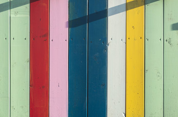 Colorful planks background