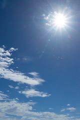 沖縄石垣島 夏の青空と太陽