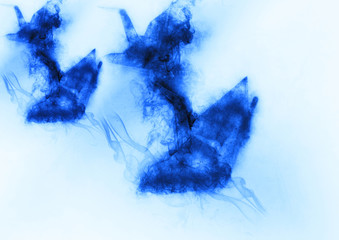 抽象的な鶴