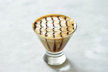 Mocha in glass