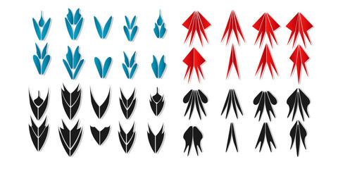 set arrow vector