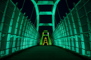 Tynehead bridge at night in Surrey, British Columbia.