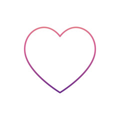 heart icon in nolan style. One of Web collection icon can be used for UI, UX