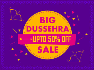 Happy Dussehra Sale Promotion Advertisement template background for Navratri festival of India