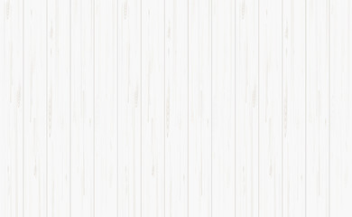 White wood texture for background. Vector.
