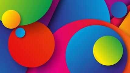 Fototapeta kolorowe koła tło wektor