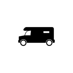Minibus icon. Element of vehicle. Premium quality graphic design icon. Signs and symbols collection icon for websites, web design, mobile app