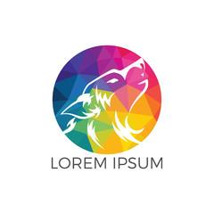 Wolf Logo Design. Modern professional wolf logo design