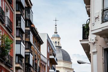 Scenic view of Lavapies neighborhood in Madrid