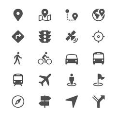 Navigation glyph icons