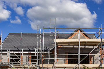 New house under construction in Cheshire England UK