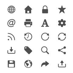 Web glyph icons