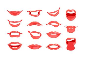 Female lips set vector