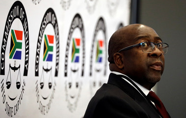 South Africa's Finance Minister Nhlanhla Nene looks on ahead of the Judicial Commission of Inquiry probing state capture in Johannesburg