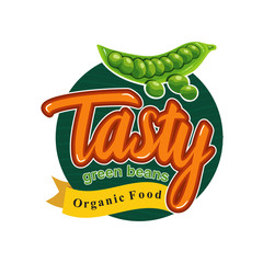 Tasty Healthy Meal with Green Bean Emblem Badge
