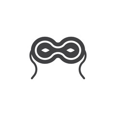 Eye mask vector icon. filled flat sign for mobile concept and web design. Carnival Masquerade Mask simple solid icon. Symbol, logo illustration. Pixel perfect vector graphics