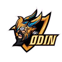 God Odin mascot logo template for sport, game crew, company logo, college team logo