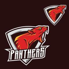 Panthers logo/ jaguar/puma/panther esport gaming mascot logo template