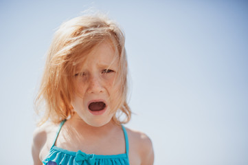 Child expresses dissatisfaction with shouts and emotions