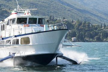 Hydrofoil for passenger transport on Lake Garda