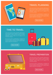 Time to Travel Planning and Preparation Color Card