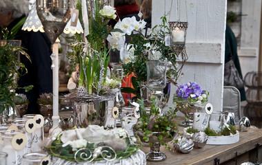 Dekoration mit Kerzen