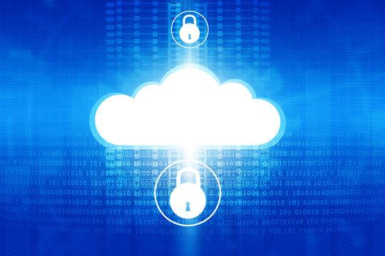 Cloud securty technology concept. Digital illustration