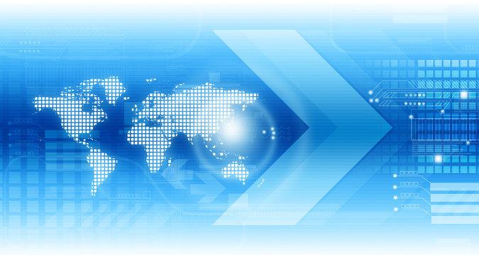Global technology background. Digital illustration.