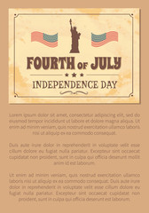 Fourth of July Independence Day Poster USA Flags
