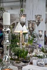 Kerzenständer mit Dekoration