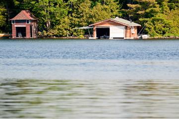 Two boathouses