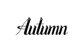 Autumn. Vector design, lettering.