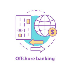 Offshore banking concept icon