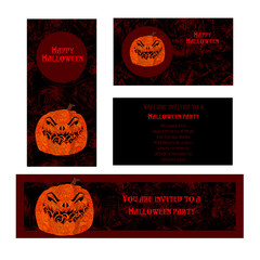 Halloween design template. Place for your text.