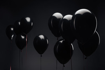 background with festive balloons for black friday Fototapete
