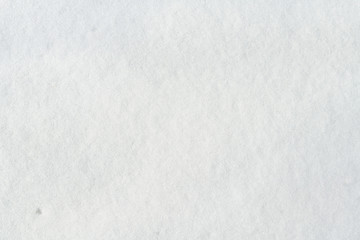 Closeup of snow for winter or Christmas background