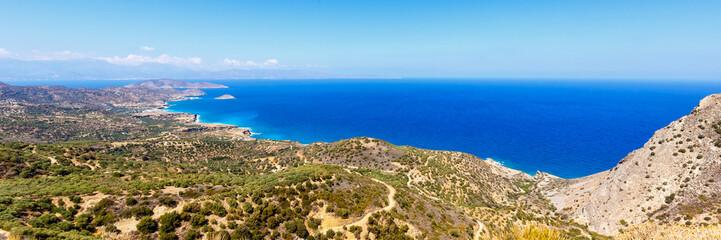 Kreta Insel Griechenland Landschaft Panorama Meer Mittelmeer Übersicht