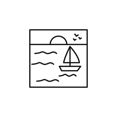 dam outline icon. Element of landscape outline icon for mobile concept and web apps. Thin line dam outline icon icon can be used for web and mobile