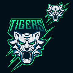 Tigers Esports Logo for Mascot Gaming and Twitch