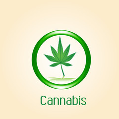 Logo cannabis leaf symbol icon vector image