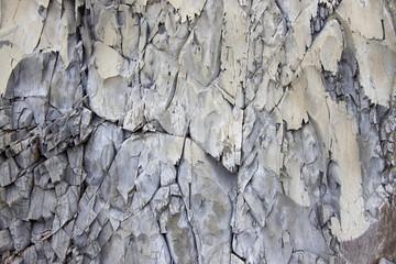 Texture of a mountain  gray  rock wall